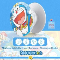 Popsocket Ring Stand Grip Holder - Anime Kartun DORAEMON - DORACPS07