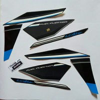 Lis body/Striping Yamaha New Vixion Advance NVA 2015 Dark Gray Metalic