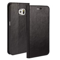 Samsung Galaxy S6 Flip Cover Wallet Leather Case Classic Style 1309
