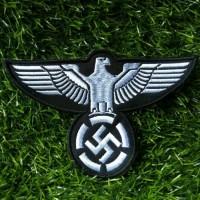 Bordir Eagle Nazi Adolf Hitler Jerman World War 2 Badge Bet Jaket Topi