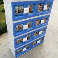 TERBARU AKAKO Lemari Plastik 16 pintu 4 susun motif Printing C Limited