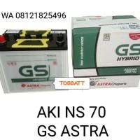 Aki NS 70 GS Hybrid Astra basah mobil phanter, kuda diesel, kijang dsl