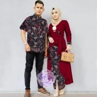 baju couple pria wanita batik kemeja hem kebaya pesta pernikahan
