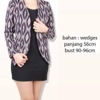 Blazer jas cewek wanita kerja formal kantor motif batik premium modis