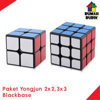 Paket Rubik 2x2 Guanpo + 3x3 Guanlong ( BLACK ) / Jual Rubik Murah
