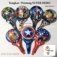 Balon Foil Tongkat / Pentung /Pentungan Super Hero – Avengers Marvel