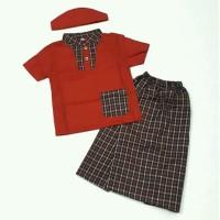 Baju Muslim Koko anak bayi laki 6 7 8 9 10 11 bulan gamis merah