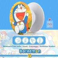 Popsocket Ring Stand Grip Holder - Anime Kartun DORAEMON - DORACPS09