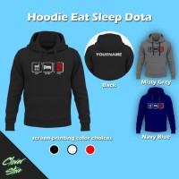 Hoodie Eat Sleep Dota     Gaming Jaket Apparel Esports