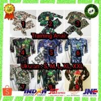 Kaos Baju Training Anak lengan panjang Loreng Tentara Murah Bandung