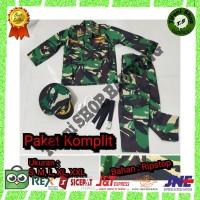 PAKET KOMPLIT Baju Seragam Kostum Profesi TNI Anak Tentara cilik Murah