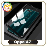 Oppo A7 Magnetic Metal Frame Shell Case Casing Hp Sarung Hp