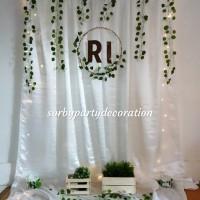 Paket backdrop background photobooth lamaran nikahan aqiqah birthday
