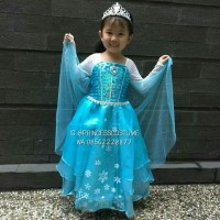 ELSA FROZEN PREMIUM - Baju Elsa Frozen - Dress Princess Anak