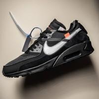 Sepatu Nike Air Max Airmax 90 Off White Black Cone Premium Original