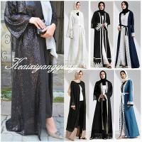 Dubai Style Women Open Front Kaftan Abaya Muslim Cardigan Jilbab Robe