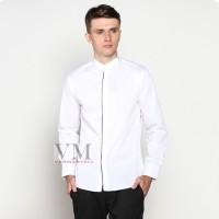 VM Baju Koko Slimfit Putih Kemeja Panjang