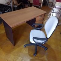 PROMO paket meja&kursi kantor 120x60x75 kerja,staff,kepsala sekolah