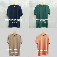 Kaos Polos Misty Kualitas Premium | T-shirt Cotton Combed 30s
