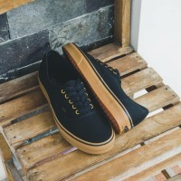 Sepatu Vans Authentic Classic Black Rubber Gum Original 100% BNIB!