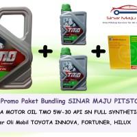 Paket Oli Mobil TMO 5W-30 API SN 6 LITER & Filter Oli TOYOTA INNOVA