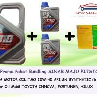 Paket Oli Mobil TMO 10W-40 (6 Liter) + Filter Oli Aspira Toyota Innova
