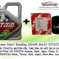 Paket Oli Mobil TMO 5W-30 API SN & Filter Oli TOYOTA AVANZA & RUSH