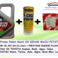Paket Ganti Oli Mobil TOYOTA CALYA - TMO 5W-30 & Filter & Engine Flush