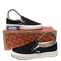 Sepatu Vans Vault OG Slip On Lx Black White DT Premium BNIB