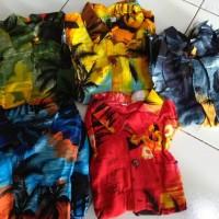 setelan baju celana Anak motif pantai hawai oleh oleh bali
