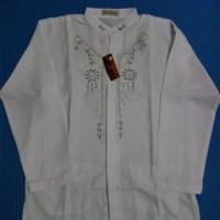 Baju Koko Muslim Pria Dewasa Lengan Panjang Putih