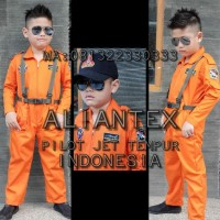 HOT SALE BAJU PILOT TEMPUR ANAK/ BAJU PROFESI ANAK /KOSTUM ANAK - 3-4