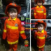 Baju Kostum Profesi Pemadam kebakaran Damkar Anak