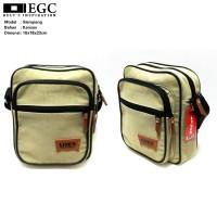 Tas Slempang Kanvas Pria Sling Bag Cowok Travel Bag Laki Tas Kecil