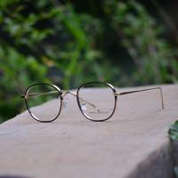 Kacamata Bulat Sabyan (frame + lensa) Fashion Wanita Pria GM 2261