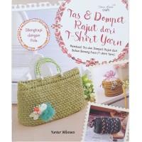 Buku Tas dan Dompet Rajut dari T-Shirt Yarn Rajutan dari benang Wool