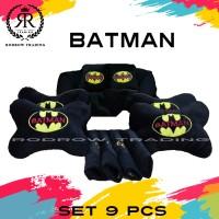 Bantal Mobil Batman Set 9 pcs / Bantal Jok Mobil Batman Set 9 pcs