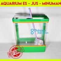 Aquarium Es Kelapa BESAR  Aquarium Es Buah Box Es Kelapa (GOJEK/GRAB)