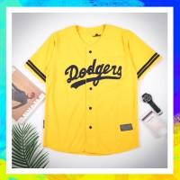Baju baseball - JERSEY BASEBALL dodgers yellow Pria Wanita