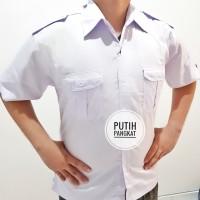 2 Kemeja Putih PNS Pria HEM Putih ASN Atasan Putih PDH Baju Putih PNS