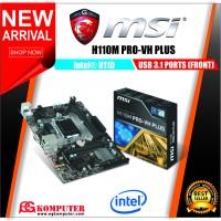 Motherboard MSI H110M PRO VH PLUS LGA 1151 DDR4 NEW GARANSI RESMI