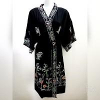 Daster Batik Kimono Kencana ungu / Kimono Batik/ Baju Tidur Kimono