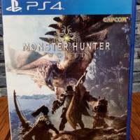 BD PS4 Monster Hunter world.. game kaset CD bluray MHW playstation4