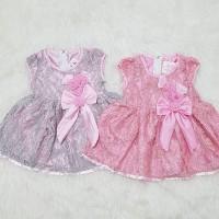 Baju Dress Pesta Kondangan Anak Bayi Perempuan Brokat Bunga