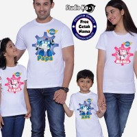 Kaos Keluarga Robocar Poli/ Baju Family (2 dewasa dan 1 anak)