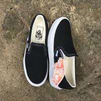 Sepatu Vans Slop OG Premium Unisex Black White