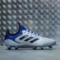 Sepatu Bola Adidas Copa 18.1 FG Silver - Blue