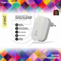 UNEED SMART TRAVEL CHARGER Fast Charging Dual USB Port UCH111 UCH-111