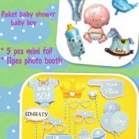 paket photoboth n balon foil baby shower boy