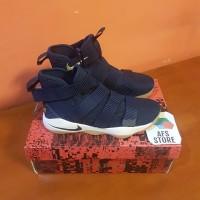 Sepatu Basket Nike Lebron James Soldier 11 Navy Premium Original BNIB